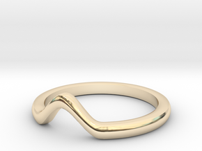 V knuckle ring in 14k Gold Plated Brass