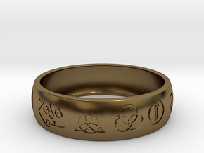 Size 13 FOUR SYMBOLS A  in Polished Bronze