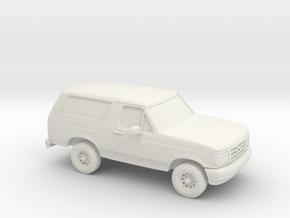 1/25 1995 Ford Bronco in White Natural Versatile Plastic