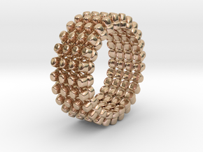 Out of borders collection - size 6 US in 14k Rose Gold Plated Brass