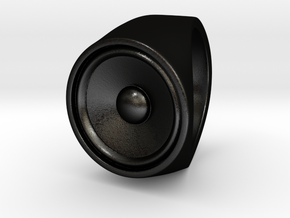 Screaming Sister - Signet Ring  in Matte Black Steel: 9 / 59