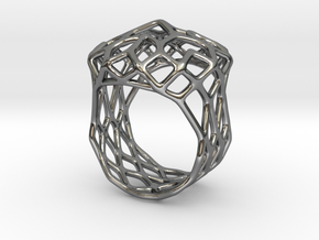 Ring Noble 18 in Fine Detail Polished Silver