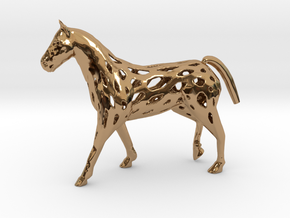 Horse in Polished Brass
