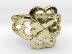 Size 11 Wife Ring  in 18k Gold Plated Brass