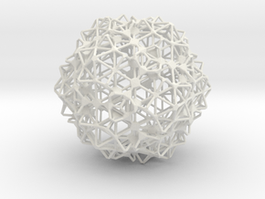 Sphere3 in White Natural Versatile Plastic