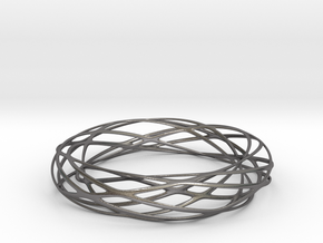 Voronoi Bracelet 3 in Polished Nickel Steel