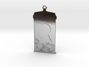 TARDIS Pendant with Twelve in Fine Detail Polished Silver