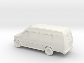 1/64 Ford E 250 Econoline Camper in White Natural Versatile Plastic