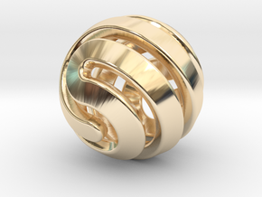 Ball-11-4 in 14k Gold Plated Brass