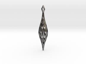EYELET earrings , SINGLE (Scale1.15) in Polished Nickel Steel