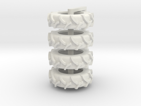 1/64 20.8 x 42 Rice Tire 4 in White Strong & Flexible