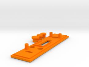 DNA200v7 Bezel with 2mm Overhang in Orange Processed Versatile Plastic