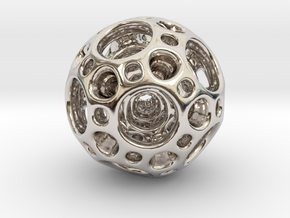 Dodecahedron Nested Sphere ( Large ) in Platinum