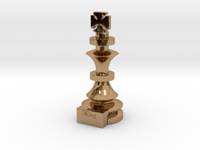 King in Polished Brass