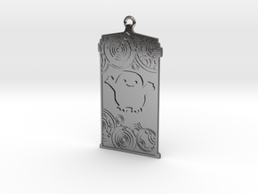 TARDIS Pendant with Adipose in Polished Silver