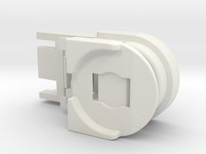 Battery holder for Thesas in White Strong & Flexible