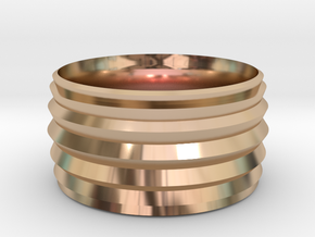 New Ring Design  in 14k Rose Gold Plated Brass