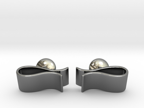 Money Clip Cufflinks in Fine Detail Polished Silver