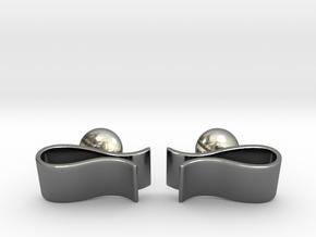 Money Clip Cufflinks in Fine Detail Polished Silver