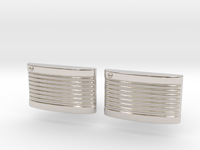 Retro Cufflinks in Rhodium Plated Brass