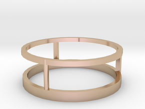 Three way ring 19mm in 14k Rose Gold