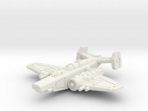 Fighter in White Natural Versatile Plastic