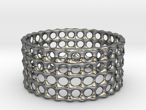 Lattice Ring No.3 in Fine Detail Polished Silver