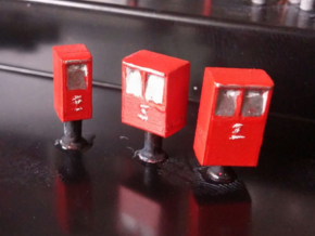 Post Boxes (three sizes), N-scale in Smooth Fine Detail Plastic