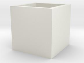 2015071329DWStemenKeeperSquareToStl1000 in White Natural Versatile Plastic