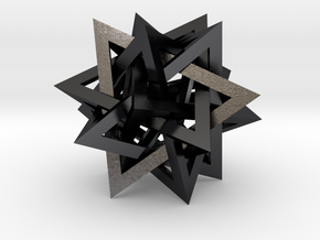 Tetrahedron 5 Compound in Polished and Bronzed Black Steel