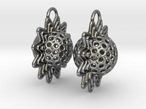 AstrosphaeraEarrings in Polished Silver