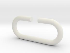 D-ring in White Natural Versatile Plastic