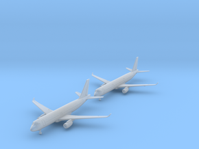 1/700 A320 & A321 with Gear (FUD) in Smooth Fine Detail Plastic