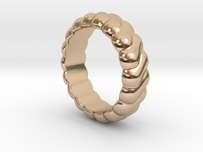 Harmony Ring 23 - Italian Size 23 in 14k Rose Gold Plated Brass