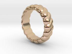 Harmony Ring 30 - Italian Size 30 in 14k Rose Gold Plated Brass