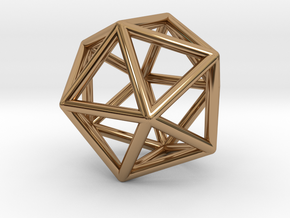 Icosahedron pendant in Polished Brass