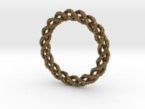 Twisted Single Strand Ring No.1 in Polished Bronze