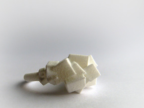 Rock Ring size 8 in White Natural Versatile Plastic