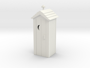 Outhouse - Qty (1) HO 87:1 Scale in White Natural Versatile Plastic