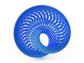 Mobius Nautilus in Blue Strong & Flexible Polished