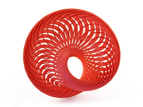 Mobius Nautilus in Red Strong & Flexible Polished