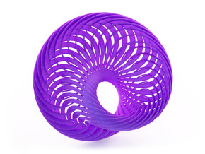 Mobius Nautilus in Purple Strong & Flexible Polished