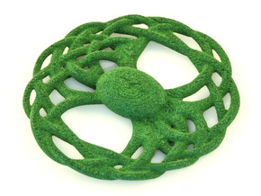 The Seed of Yggdrasil Pendant in Green Processed Versatile Plastic