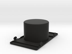 Cup Holder Center Panel in Black Natural Versatile Plastic