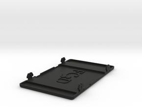 Cup Holder Blank Panel in Black Natural Versatile Plastic