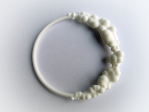 Cloud Bracelet in White Natural Versatile Plastic