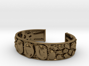 Dragon Hide 16 cm bracelet in Polished Bronze
