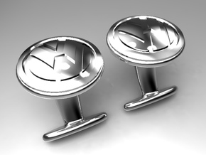 VW Cufflink in Polished Bronze Steel