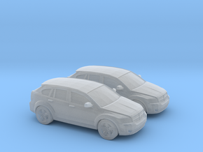 1/160 2X 2007 Dodge Caliber in Smooth Fine Detail Plastic