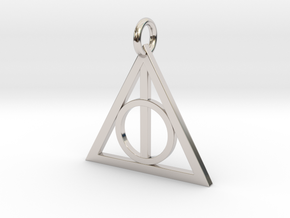 Deathly Hallows Triangle Pendant in Platinum
